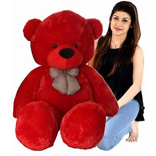 TRUELOVER 4 feet Red Premium  Superior Quality Teddy Bear - 48.01 inch(Red)
