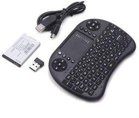 Ever Forever Black Wireless Keyboard With Touchpad Mouse