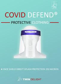 Face Shield  250 Micron  Direct Splash Protection 250 Micron  , Reusable