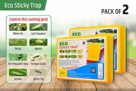 ECO Sticky Trap for Garden/Farm. Glue Trap, Yellow Sticky Trap for Control White Fly,Thrips, Aphids,other flying insect