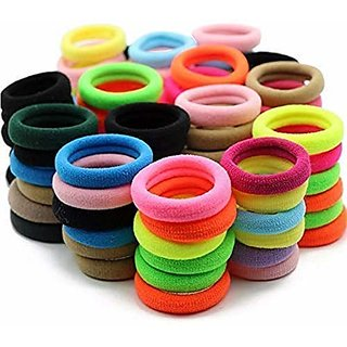 Women's Rubber Hair Bands (Multicolour) Set of 50 Pieces by REBUY