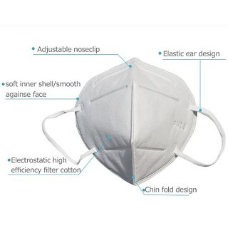 N-95 Raspriator Filter cap reusable Face Mask With Mask Cleaner 5 Pieces Face Mask for corona protection.