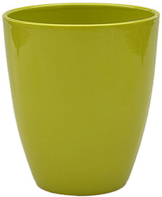 Vimal Sturdy and Durable Cylindrical shape colorful Plant Pot - Outdoor Gardening - Green