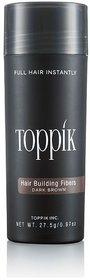 Top-pik Hair Building Fibers Dark Brown Color 27.5 grams,Hair loss concealer Authentic ! (dark brown) at best price