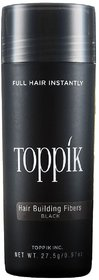 Toppik Hair Building Fiber Black 27.5 New Bottle Hair Fiber For Hair Damage Hair Loss Concealer!! (Black)