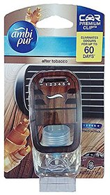 Ambi Pur-Premium Car After Tobaccobo Clip Air Freshner Refill-7.5 Ml