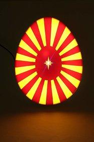 Brahma Kumari Decorative Night Lamp (7x9-inch Red and Yellow)