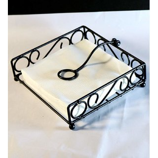 Goodwill Crafts  Decorative Wrought Iron Tissue Paper Holder Napkin Holder Stand