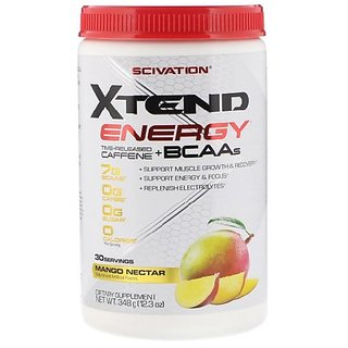 Scivation Xtend Energy Time Released Caffeine and BCAAs, Mango Nectar (12.3 oz , 348 g)