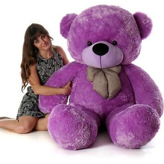 Truelover 3 Feet Stuffed Spongy Huggable Imported Teddy Bear (Super Quality) Special For Gift - 91 cm  (Purple)