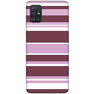 OnHigh Designer Printed Hard Back Cover Case For Samsung A51/Samsung A71, Multiple Lines