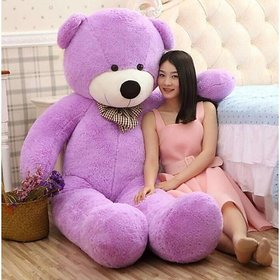 True Love Purple 4 Feet Stuffed Spongy Huggable Imported Teddy Bear  Special For Gift - 120 cm