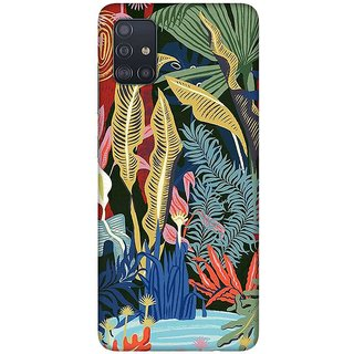 OnHigh Designer Printed Hard Back Cover Case For Samsung A51/Samsung A71, Under Water Leaves