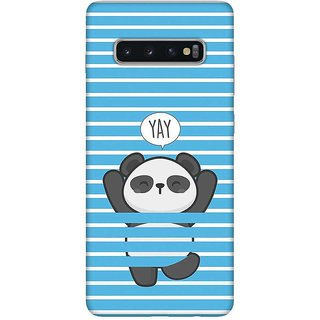 OnHigh Designer Printed Hard Back Cover Case For Samsung S10 Plus, YAY Chill
