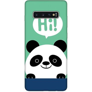 OnHigh Designer Printed Hard Back Cover Case For Samsung S10 Plus, Hi! Hi! Hi!