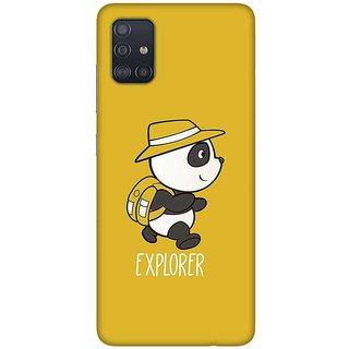 OnHigh Designer Printed Hard Back Cover Case For Samsung A51/Samsung A71, Explorer