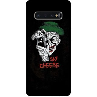 OnHigh Designer Printed Hard Back Cover Case For Samsung S10 Plus, Say Cheese