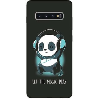 OnHigh Designer Printed Hard Back Cover Case For Samsung S10 Plus, Let's Music Play