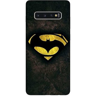 OnHigh Designer Printed Hard Back Cover Case For Samsung S10 Plus, Yellow Logo Case
