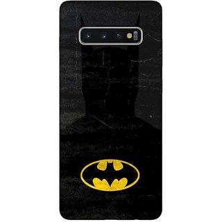 OnHigh Designer Printed Hard Back Cover Case For Samsung S10 Plus, Bat Logo Case