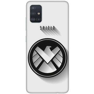 OnHigh Designer Printed Hard Back Cover Case For Samsung A51/Samsung A71, Shield Logo Case