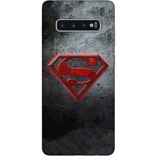 OnHigh Designer Printed Hard Back Cover Case For Samsung S10 Plus, Super Logo Design Case