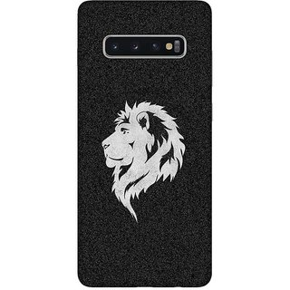 OnHigh Designer Printed Hard Back Cover Case For Samsung S10 Plus, Lion Face in Middle