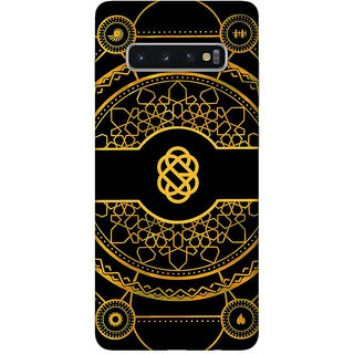 OnHigh Designer Printed Hard Back Cover Case For Samsung S10 Plus, Yellow Printing Art