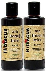 Amla Bhringraj Brahmi Hair Oil (Pack Of Two)