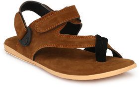 Shoegaro Men's Tan Suede Casual Sandal