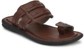 Shoegaro Men's Brown Synthetic Leather Casual Sandal
