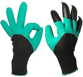 Shop Stoppers  Green Garden Gloves with Fingertips Claws Dig Plant for Safe Pruning Mittens Digging  1 Pair  UNISEX