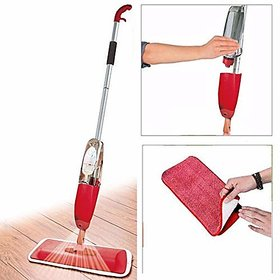 Shop Stoppers  Healthy Spray Mop - Floor Mop with Removable Washable Cleaning Pad and Integrated Water Spray Mechanism