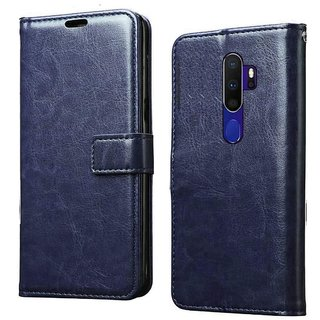 Americhome flip cover for Oppo A5 2020 (Blue)