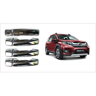After cars Honda BR-V Car Door Handle Latch Chrome Plated Cover with Car Bluetooth