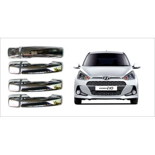 After cars Hyundai i10 Grand New Car Door Handle Latch Chrome Plated Cover with Car Bluetooth