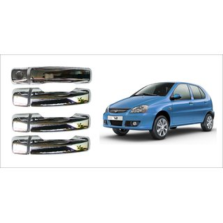 After cars Tata Indica v2 Car Door Handle Latch Chrome Plated Cover with Car Bluetooth