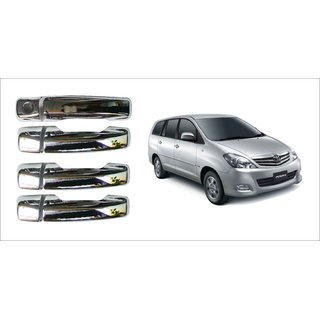 After cars Tata Innova Old Car Door Handle Latch Chrome Plated Cover with Car Bluetooth