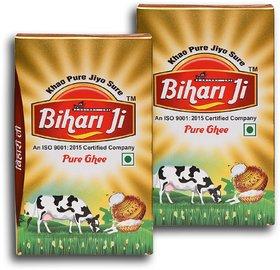 Bihari ji Desi Ghee 1Ltr Tetra pack of -2