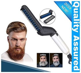 Electric Beard Straightener Massage Hair Comb Beard Care Comb Multifunctional Curly Hair Straightening Comb