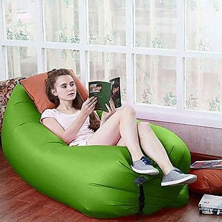 Shop Stoppers  Lazy Sofa  Inflatable Portable Hangout Lazy Air Bag Sofa Bed Suitable for Camping, Travel  Beach - Mul