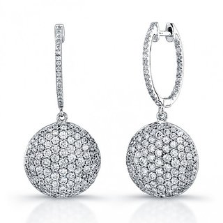 RM Jewellers 92.5 Sterling Silver American Diamond Awesome Clip-On Earrings For Women