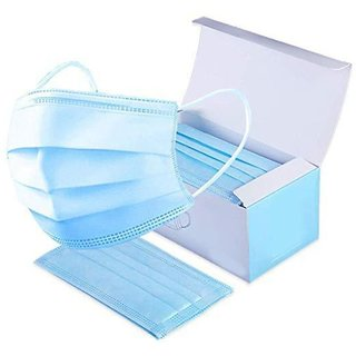 Disposable Earloop Face Mask 3-ply With Elastic Breathable Non-woven Dust F