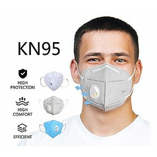 Certified Reusable Antibacterial Kn95 Face Mask With Respirator Valve White
