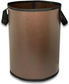 LooMantha 50 L Brown Laundry Basket