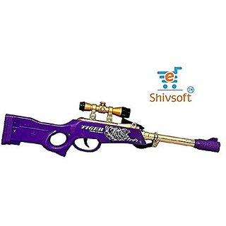 Shivsoft Soft Projectile Sniper Alliance Gun for Kids 6 mm 30 Rubber Matter Bullets Soft Toy Sniper Gun (Assorted Colour Gun Long Range Gun)