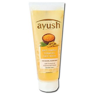 Lever Ayush Therapy Anti Pimple Turmeric Face Wash 40g