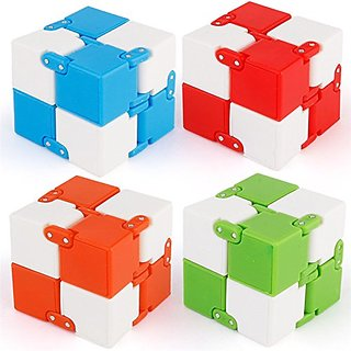 Shivsoft Infinity Cube | Magic Cube | Anti Stress | Colour: Assorted (As per Availablity)