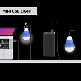 Innotek Pack Of 2 USB LED Bulb Bright Light Reading Lamp for Camping Laptop PC (5 Watt 6 Volts)