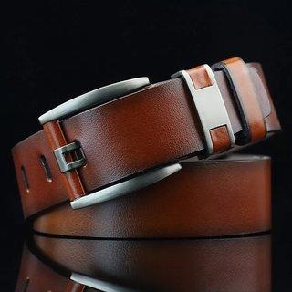 Rylen Men  Women Casual, Party, Evening Brown Artificial Leather Belt